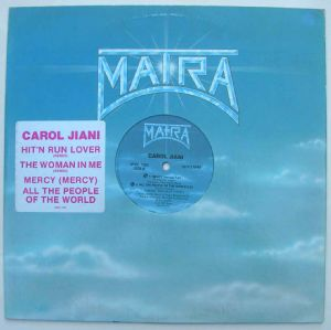CAROLE JIANI - Hit'n run lover / All the people of the world - 12 inch 33 rpm