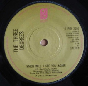THE THREE DEGREES - When will I see you again / I didn't know - 7inch (SP)
