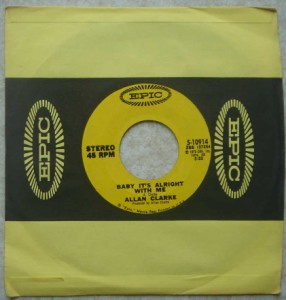 ALLAN CLARKE - Baby it's alright with me / Ruby - 7inch (SP)