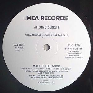 ALFONZO SURRETT - Make it feel good - 12 inch 33 rpm