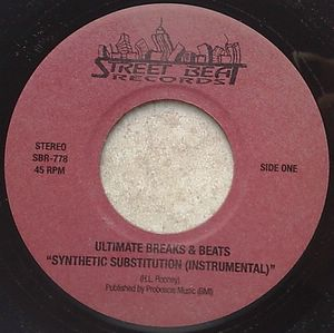 ULTIMATE BREAKS & BEATS - Synthetic Substitution - 7inch (SP)