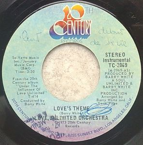 LOVE UNLIMITED ORCHESTRA - Love's theme / Sweet moments - 7inch (SP)
