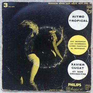 XAVIER CUGAT ET SON ORCHESTRE - Ritmo tropical - 7inch (EP)