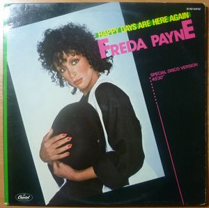 FREDA PAYNE - Happy days are here again / I'll do anything for you - 12 inch 33 rpm