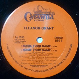 ELEANOR GRANT - Name your game - 12 inch 33 rpm