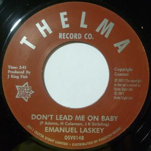 EMMANUEL LASKEY - Don't lead me on baby / I'm a peace loving man - 7inch (SP)