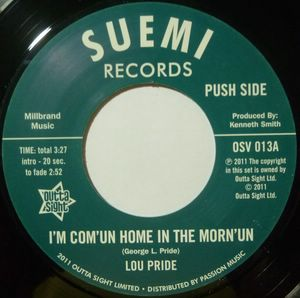 LOU PRIDE - I'm com'un home in the morn'un - 7inch (SP)