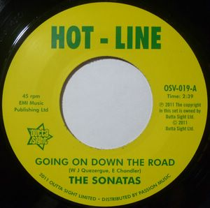 THE SONATAS / DONNA KING - Going on down the road / Take me home - 7inch (SP)