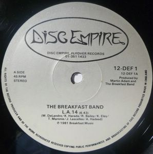 THE BREAKFAST BAND - L.A. 14 / Dolphin ride - 12 inch 33 rpm