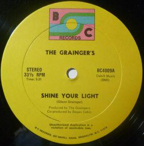 THE GRAINGER'S - Shine your light - 12 inch 33 rpm