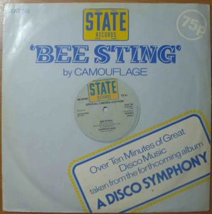 CAMOUFLAGE - Bee sting / Take a ride - 12 inch 33 rpm