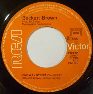 BECKETT BROWN - One way street - 7inch (SP)