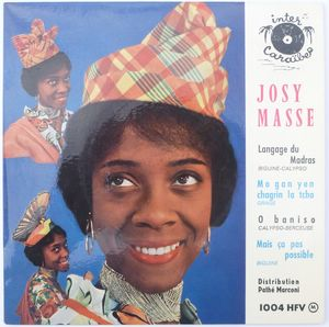 JOSY MASSE - Langage du Madras (4 tracks) - 7inch (EP)
