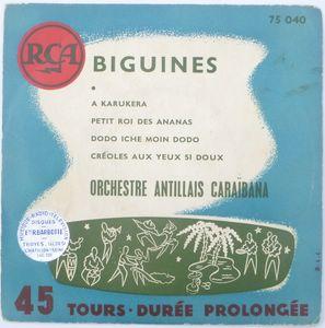 ORCHESTRE ANTILLAIS CARIBANA - Biguines - 7inch (EP)