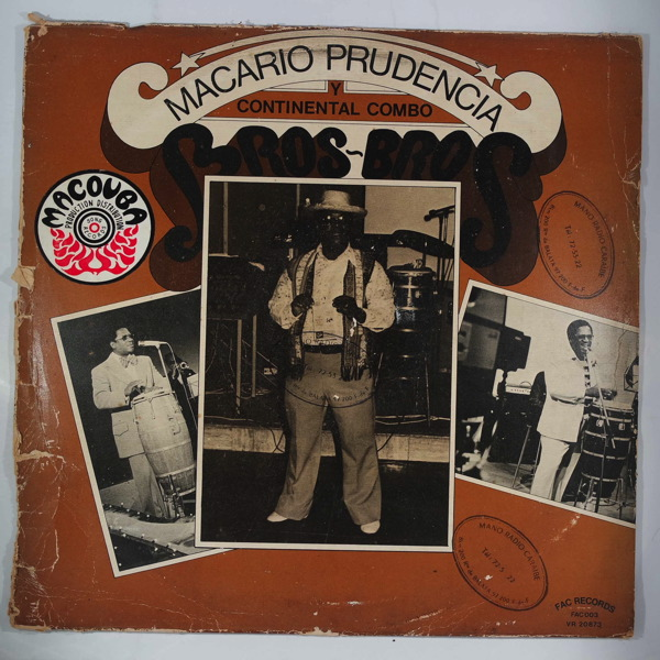 MACARIO PRUDENCIA Y CONTINENTAL COMBO - Bros Bros - LP