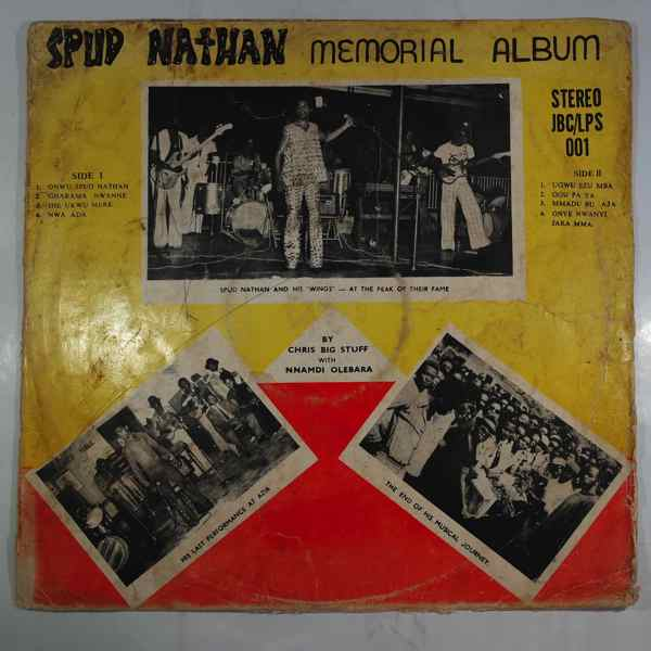 CHRIS BIG STUFF WITH NNAMDI OLEBARA - Spud Nathan memorial album - LP