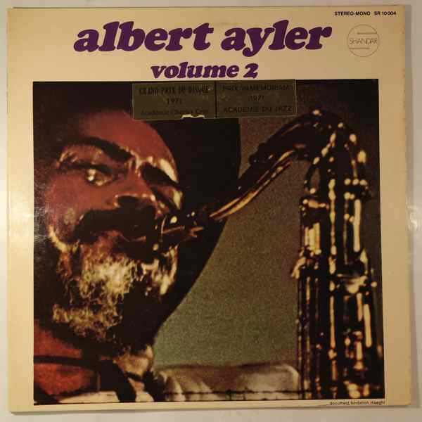 ALBERT AYLER - Nuits De La Fondation Maeght Volume 2 - LP