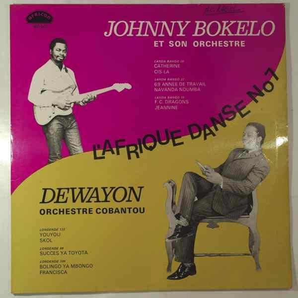 JOHNNY BOKELO / DEWAYON ORCHESTRE COBANTOU - L'Afrique danse N_7 - LP