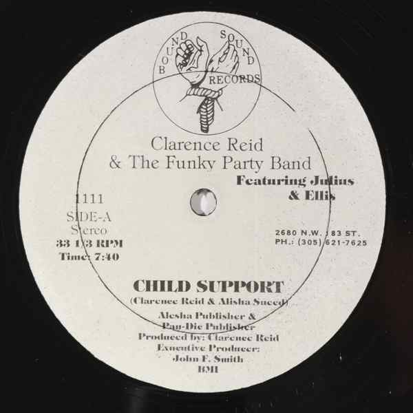 CLARENCE REID & THE FUNKY PARTY BAND - Child support - 12 inch 45 rpm