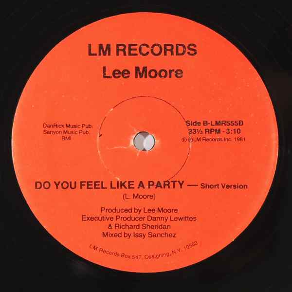 Lee Moore Do you feel like a party