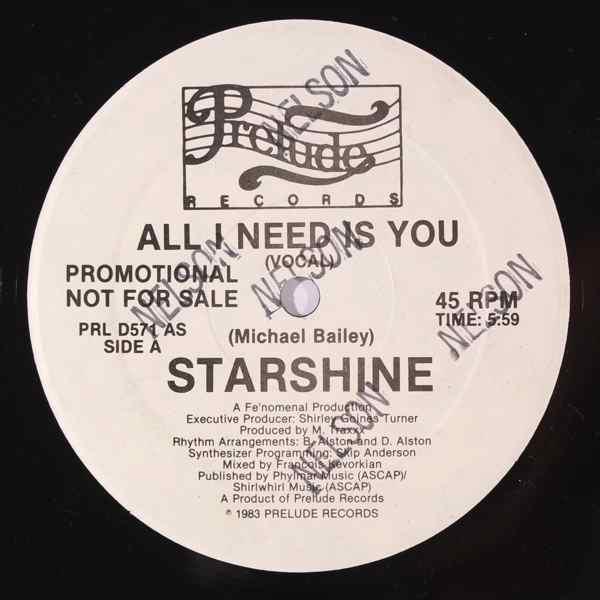 Starshine All i need is you