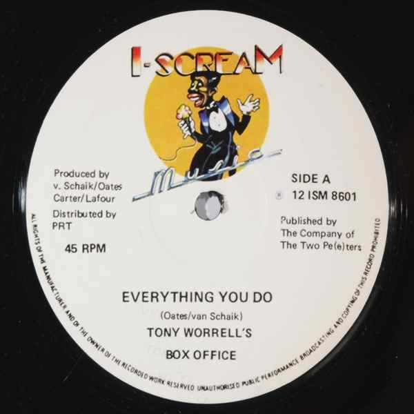 TONY WORRELL'S BOX OFFICE - Everything you do - 12 inch 45 rpm