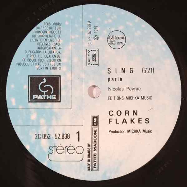 CORN FLAKES - Sing - 12 inch 45 rpm