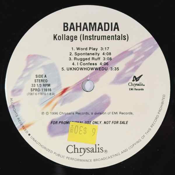 BAHAMADIA - Kollage (Instrumental) - LP