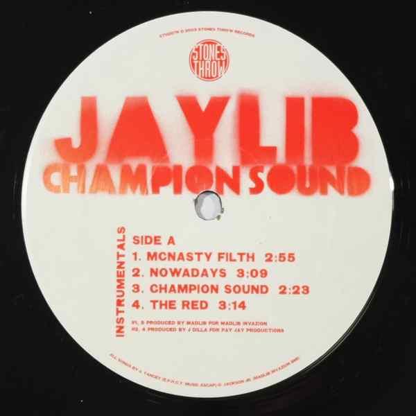 JAYLIB - Champion Sound Instrumentals - LP x 2