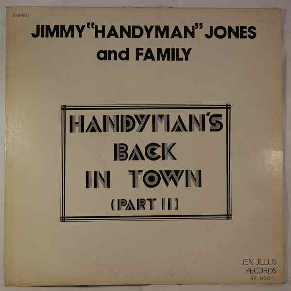 JIMMY 'HANDYMAN' JONES AND FAMILY - Handyman's back in town (part II) - LP