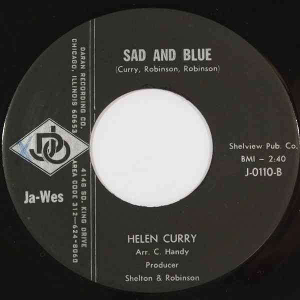 HELEN CURRY - Sad and blue - 7inch (SP)
