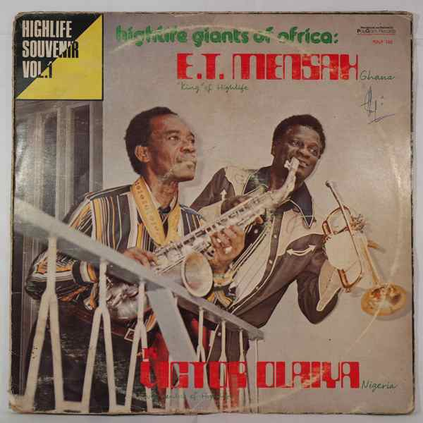 E.T. MENSAH / DR VICTOR OLAIYA - Highlife giants of Africa - LP