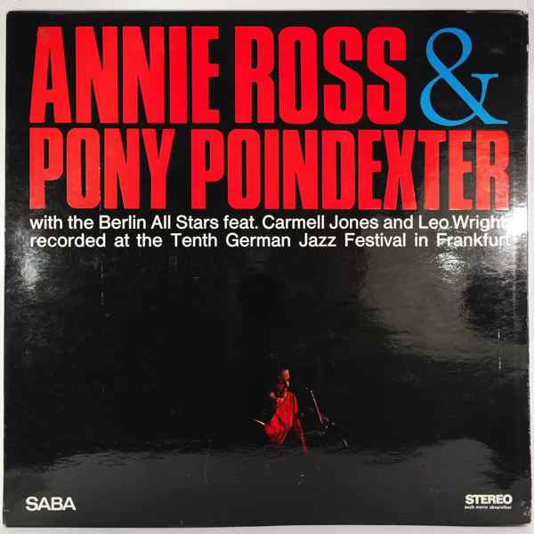 ANNIE ROSS & PONY POINDEXTER - With The Berlin All Stars - 33T