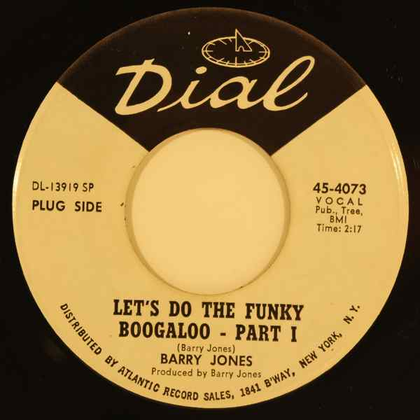 BARRY JONES - Let's do the funky Boogaloo - 7inch x 1