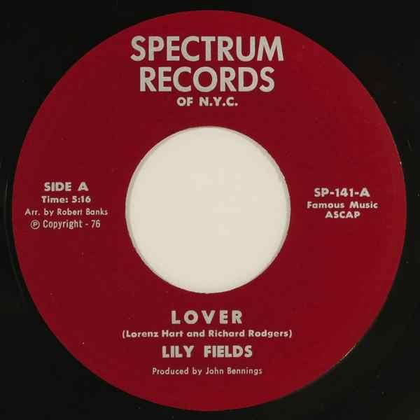 LILY FIELDS - Lover / Honestly I love you - 7inch (SP)