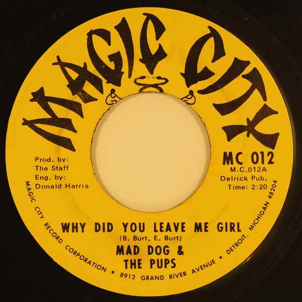 MAD DOG & THE PUPS / THE SOULFUL HOUNDS - Why Did You Leave Me Girl - 7inch (SP)
