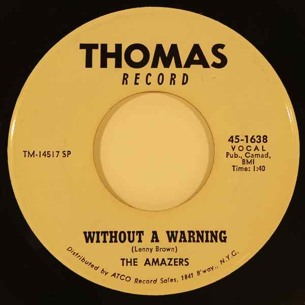 THE AMAZERS - Without a warning / It's you for me - 7inch (SP)