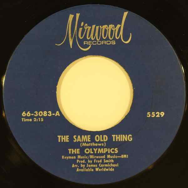 THE OLYMPICS - Same old thing - 7inch (SP)