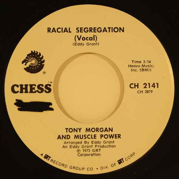 TONY MORGAN AND MUSCLE POWER - Racial segregation - 7inch (SP)