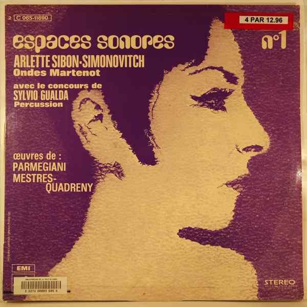ARLETTE SIBON-SIMONOVITCH - Espaces Sonores N¡1 - LP