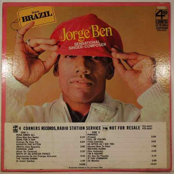 JORGE BEN - Sensational Singer-Composer - LP