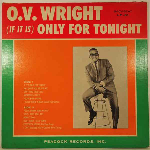 O.V. WRIGHT - Only for tonight - LP