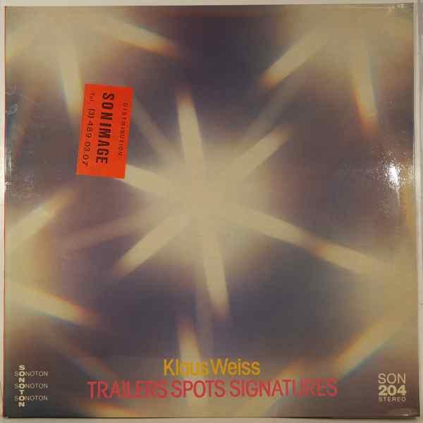 KLAUS WEISS - Trailers Spots Signatures - LP