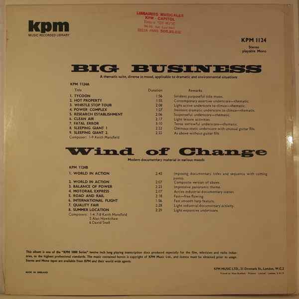 Keith Mansfield / Alan Hawkshaw Big Business / Wind Of Change