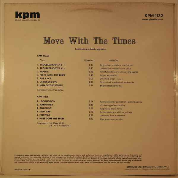 DAVE GOLD / ALAN HAWKSHAW - Move With The Times - LP