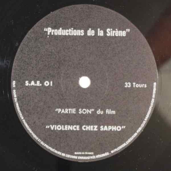 UNKNOWN ARTIST - Violence Chez Sapho - 33T