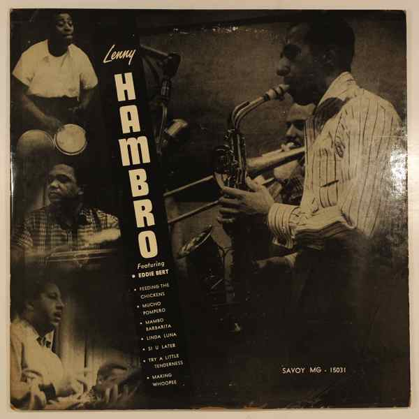 LENNY HAMBRO FEATURING EDDIE BERT - Mambo Hambro - 10 inch