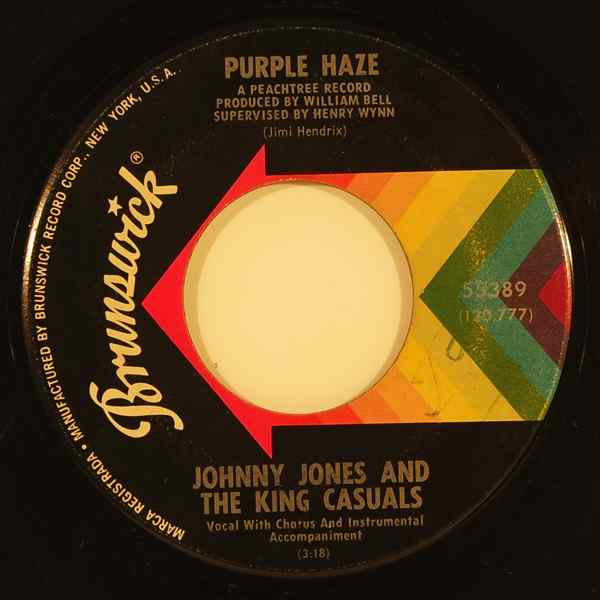 JOHNNY JONES AND THE KING CASUALS - Purple haze - 7inch (SP)