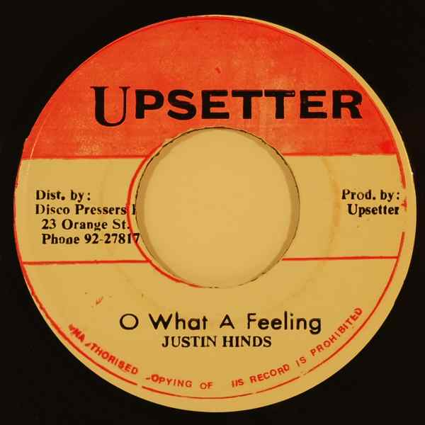 JUSTIN HINDS - O what a feeling - 7inch (SP)