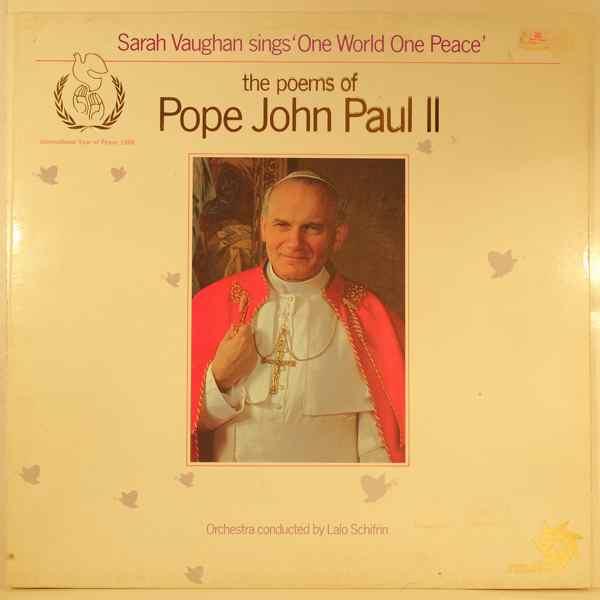 SARAH VAUGHAN - Sings One World One Peace (The Poems Of Pope John Paul II) - LP